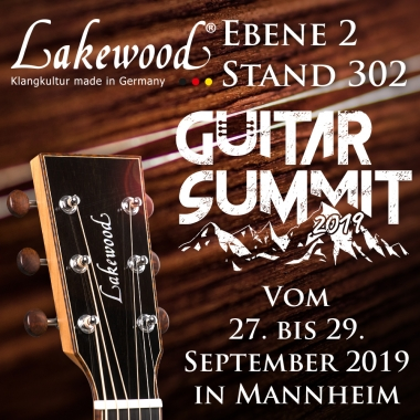 Lakewood auf dem Guitar Summit 2019